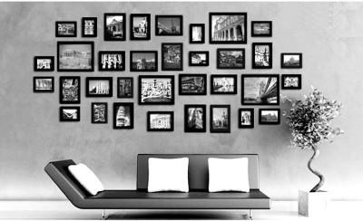 Swadesi Stuff MDF Photo Frame(Black, 34 Photos)