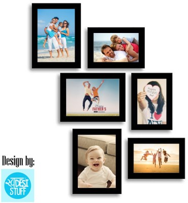 Desi Frame MDF Photo Frame(Black, 6 Photos) at flipkart