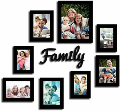 Painting Mantra Generic Photo Frame(Black, 8 Photos) at flipkart