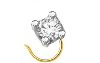 Fullcutdiamond FCDNP1754N 18kt Diamond Yellow Gold Ring(Yellow Gold Plated) at flipkart