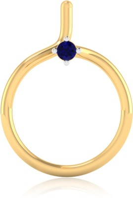 IskiUski Serenity 14kt Sapphire Yellow Gold Stud