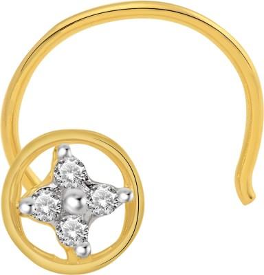 Cygnus Diamond Yellow Gold Stud at flipkart