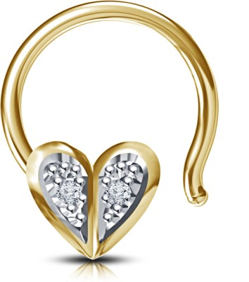 Devina Jewels Diamond 14K Yellow Gold Plated Sterling Silver Nose Stud at flipkart