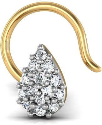 Avsar 14kt Swarovski Crystal Yellow Gold Stud