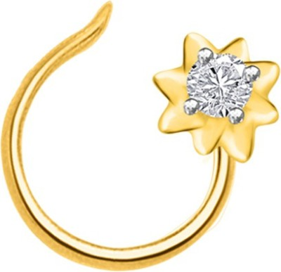 His & Her 18kt Diamond Yellow Gold Stud at flipkart