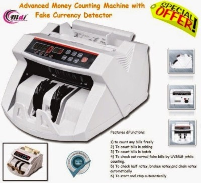 MDI JN2040 LCD Money Note Counting Machine(Counting Speed - 1000 notes/min)