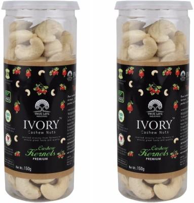 Ivory Combo Pack of Grade 240 150gm each Plain Cashews(300 g, Mason Jar)
