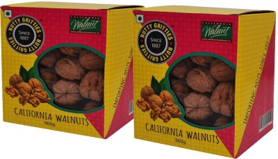 Nutty Gritties California Inshell 1kg Walnuts(1 kg, Box)