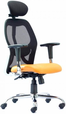 HOF MARCO 1007 H Professional Synthetic Fiber Office Arm Chair(Orange)