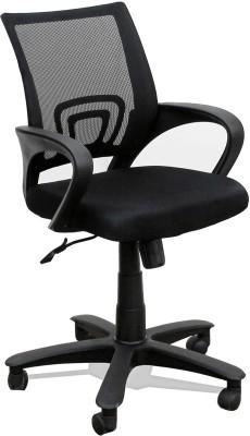 TimberTaste Rocky Fabric Office Arm Chair(Black) at flipkart