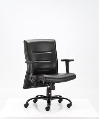 HOF carbon MediumBack Professional Leatherette Office Arm Chair(Black)