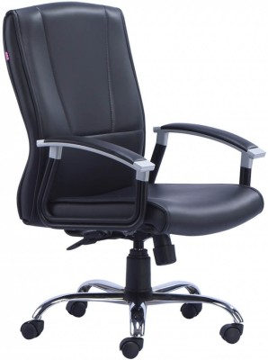 HOF MARCO 1002 M Professional Synthetic Fiber Office Arm Chair(Black)