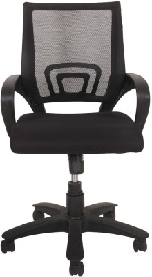 Ks chairs Leatherette Study Arm Chair(Black)