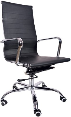VJ Interior Leatherette Office Arm Chair(Black) at flipkart