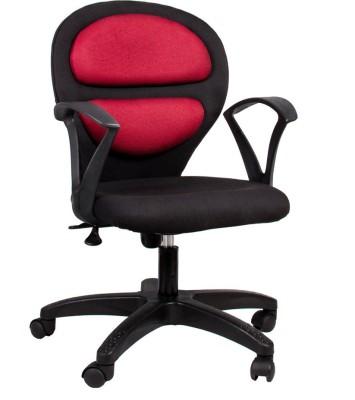 Hetal Enterprises Fabric Office Arm Chair(Maroon)
