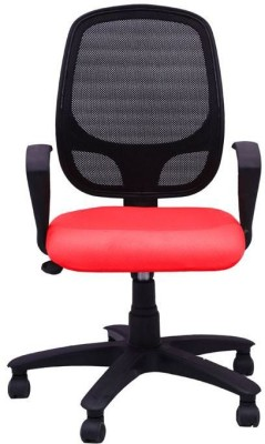 Adiko Fabric Office Arm Chair(Red) at flipkart