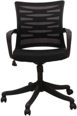 Adiko Fabric Office Arm Chair(Black) at flipkart