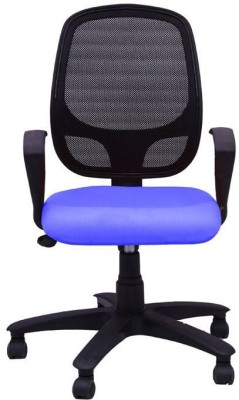 Adiko Fabric Office Arm Chair(Blue) at flipkart
