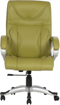 VJ Interior Leatherette Office Arm Chair(Green) at flipkart