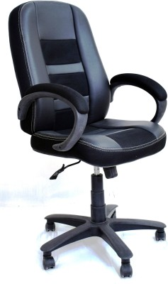TimberTaste RUBY Leatherette Office Arm Chair(Black) at flipkart
