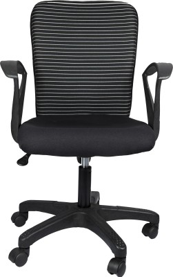 Hetal Enterprises Fabric Office Arm Chair(Black) at flipkart