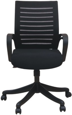 Adiko Fabric Office Arm Chair(Black) at flipkart