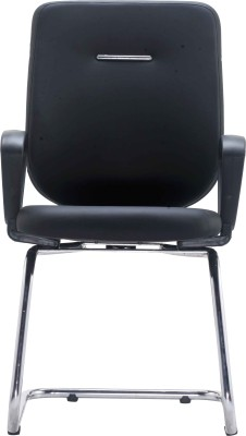 Bluebell Ebuzz Visitor Fabric Office Arm Chair(Black)