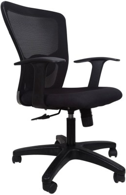 Hetal Enterprises Fabric Office Arm Chair(Black)