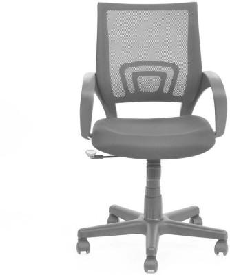Nilkamal Concept Fabric Office Arm Chair(Black) at flipkart