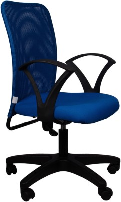 Hetal Enterprises Fabric Office Arm Chair(Blue)