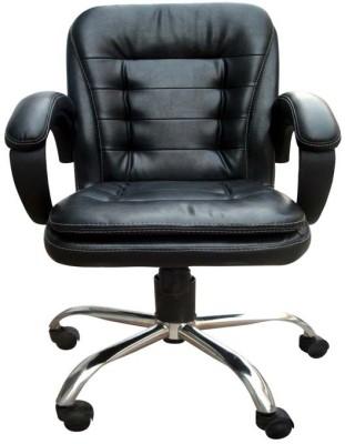 Adiko Leatherette Office Arm Chair(Black)