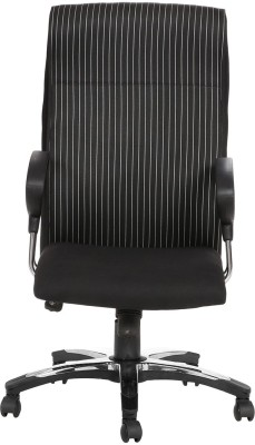 VJ Interior Fabric Office Arm Chair(Black) at flipkart