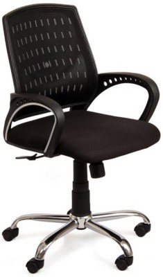 Adiko Leatherette Office Arm Chair(Black) at flipkart