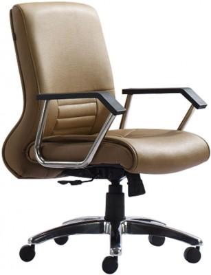 HOF ZEBA 542 Premium Synthetic Fiber Office Arm Chair(Beige)