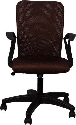 Hetal Enterprises Fabric Office Arm Chair(Brown)