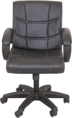Ks chairs Fabric Study Arm Chair(Black)