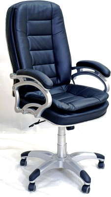 TimberTaste NANCY Leatherette Office Arm Chair(Black) at flipkart