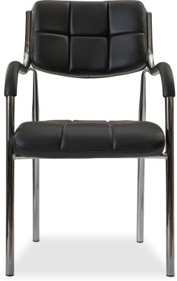 Durian SPARK Leatherette Office Visitor Chair(Black)