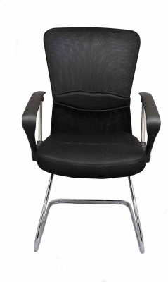 Darla Interiors Fabric Office Arm Chair(Black)