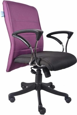 VJ Interior Fabric Office Arm Chair(Multicolor) at flipkart