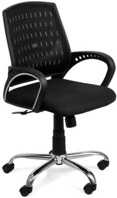 Hetal Enterprises Fabric Office Arm Chair(Black)