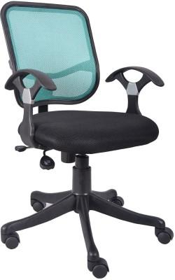 VJ Interior Fabric Office Arm Chair(Blue)