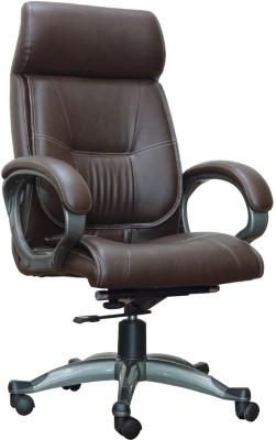 Adiko Leatherette Office Arm Chair(Brown)