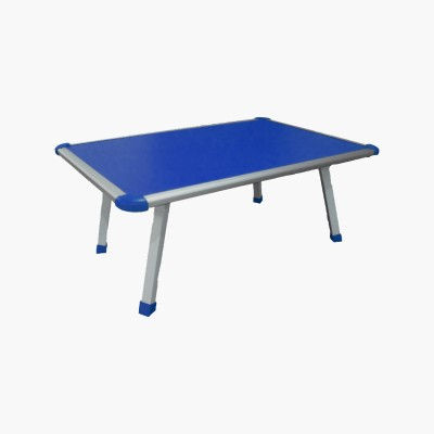 Muren Durable And Portable Kids Use Anywhere Table - Rectangle Solid Wood Portable Laptop Table(Finish Color - Blue)