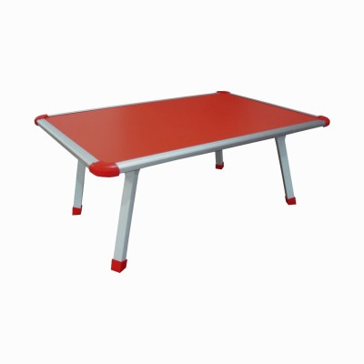 Muren Durable And Portable Kids Use Anywhere Table - Sqaure Solid Wood Study Table(Free Standing, Finish Color - Red)