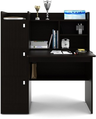 HomeTown Ace Engineered Wood Study Table(Free Standing, Finish Color - Black)