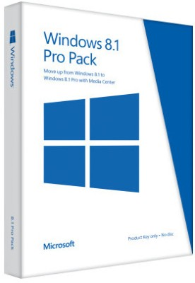 Microsoft Windows 8.1 Pro Upgrade Pack 32/64 bit