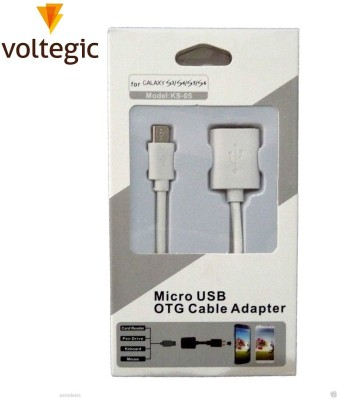 Voltegic ™ Male Micro USB to Female Adapter OTG Cable(Pink)