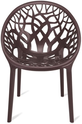Nilkamal Crystal Plastic Outdoor Chair(Weather Brown)