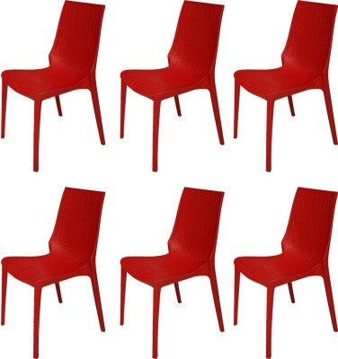 Supreme Lumina Plastic Outdoor Chair(Finish Color - Red) at flipkart